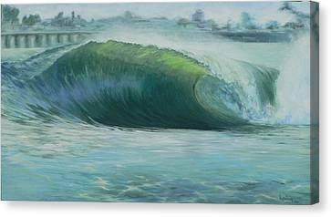 Santa Cruz Green Canvas Print by Kathryn Colvig