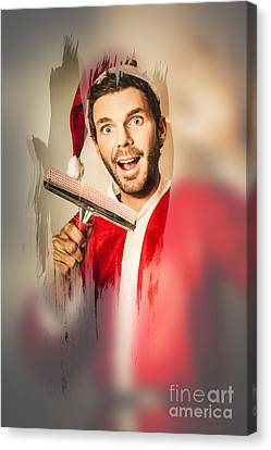 Santa Elf Preparing For Christmas Canvas Print by Jorgo Photography - Wall Art Gallery