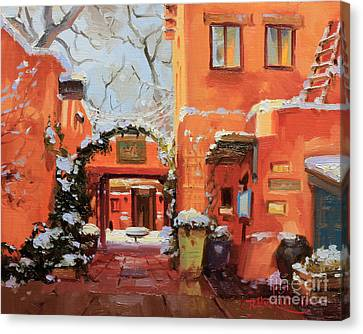 Santa Fe Cafe Canvas Print by Gary Kim