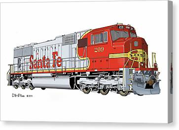 Santa Fe Sd75m #209 Canvas Print by David Rice
