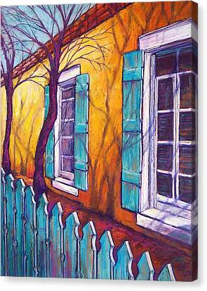 Santa Fe Shutters Canvas Print by Candy Mayer