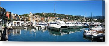 Santa Margherita Ligure Panoramic Canvas Print by Adam Romanowicz