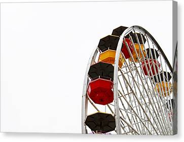 Santa Monica Pier Ferris Wheel- By Linda Woods Canvas Print by Linda Woods