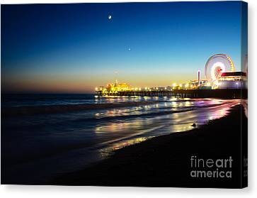 Santa Monica Pier Canvas Print by Kelly Wade