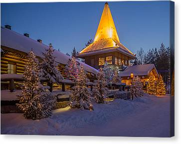 Santa Village Canvas Print by Angela Aird