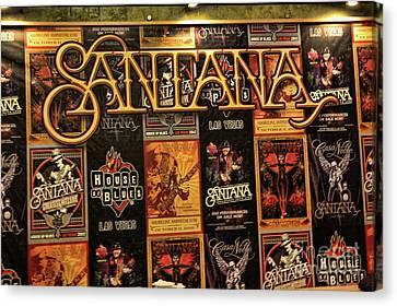 Santana House Of Blues Canvas Print by Chuck Kuhn