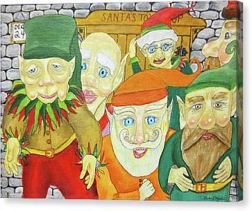 Santas Elves Canvas Print by Gordon Wendling