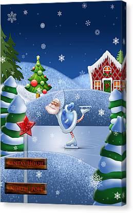 Santa's House - North Pole  Canvas Print by Maggie Terlecki
