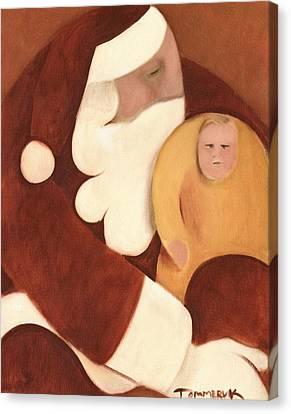 Santa's Lap Art Print Canvas Print by Tommervik