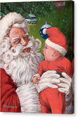 Santas Little Helper Canvas Print by Richard De Wolfe