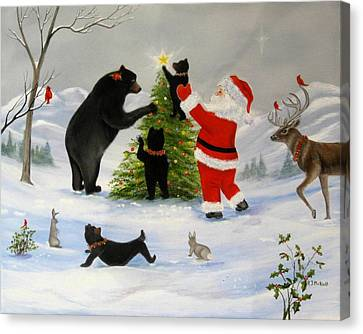 Santa's Little Helper Canvas Print by RJ McNall