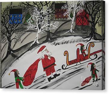 Santa's Work Is Done  Canvas Print by Jeffrey Koss