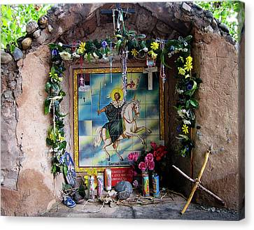 Santiago Apostel Chimayo Canvas Print by Kurt Van Wagner