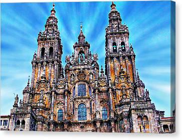 Santiago De Compostela Cathedral Canvas Print by Anthony Dezenzio