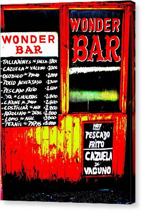 Santiago's Wonder Bar  Canvas Print by Funkpix Photo Hunter