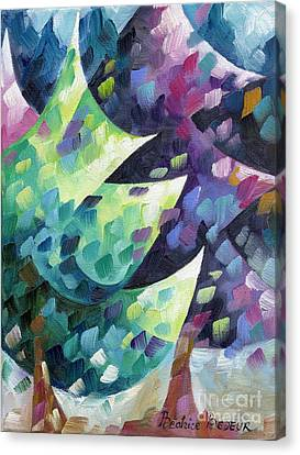 Sapins Canvas Print by Beatrice BEDEUR