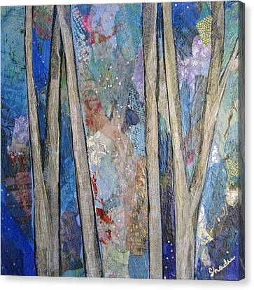 Sapphire Forest I Canvas Print by Shadia Zayed