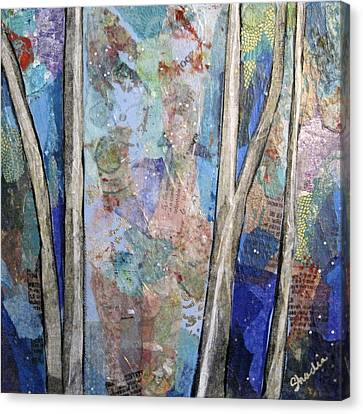 Sapphire Forest II Canvas Print by Shadia Zayed