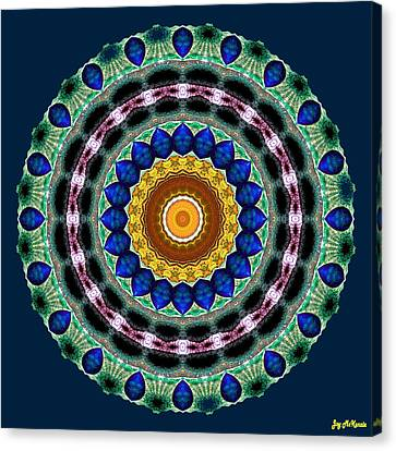 Sapphire Necklace Mandala Canvas Print by Joy McKenzie