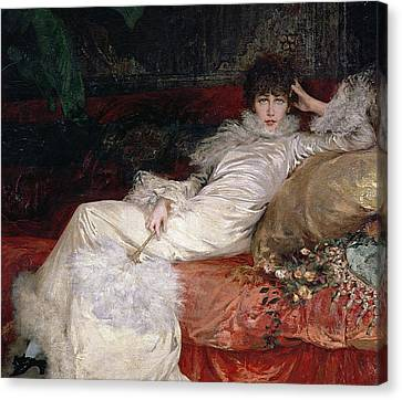 Sarah Bernhardt Canvas Print by Georges Clairin