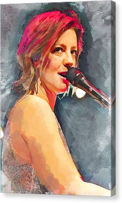 Sarah Mclachlan Canvas Print by Thomas Leparskas