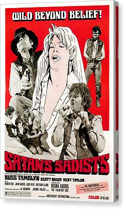 Satans Sadists, Russ Tamblyn Bottom Canvas Print by Everett