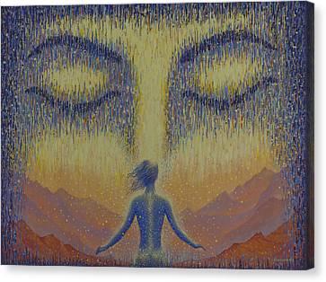 Satori Canvas Print by Vrindavan Das