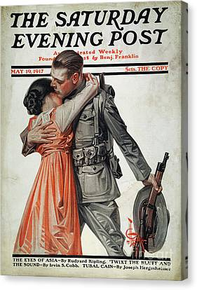 Saturday Evening Post Canvas Print by Granger
