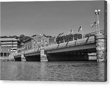 Saugatuck River Bridge Westport Ct Canvas Print by Stephanie McDowell