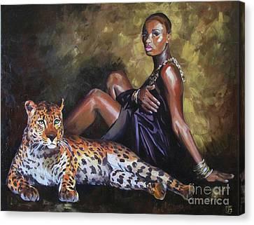 Savage Girl Canvas Print by Ekaterina Bortsova