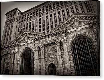 Save The Depot - Michigan Central Station Corktown - Detroit Michigan Canvas Print by Gordon Dean II