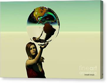 Save The Earth Canvas Print by Corey Ford