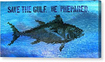 Save The Gulf America 2 Canvas Print by Paul Gaj