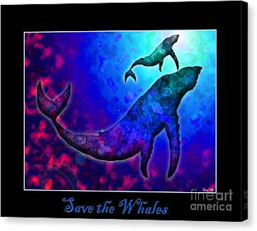 Save The Whales Canvas Print by Nick Gustafson