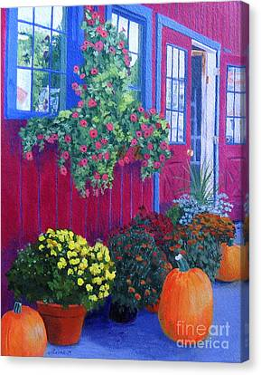 Savickis Market Canvas Print by Lynne Reichhart