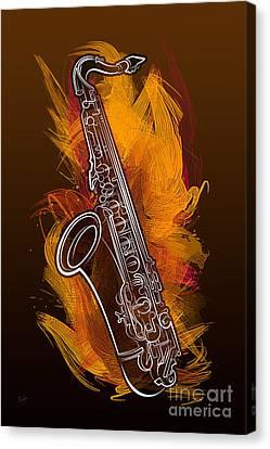 Sax Craze Canvas Print by Bedros Awak