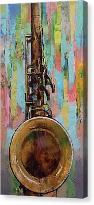 Sax Canvas Print by Michael Creese