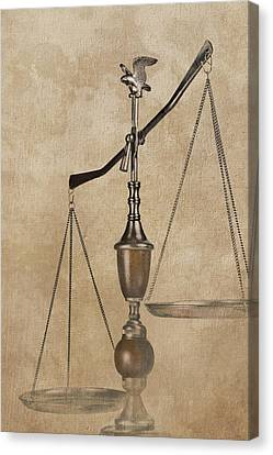 Scales Of Justice Canvas Print by Tom Mc Nemar
