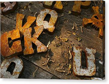 Scamble Letters Canvas Print by Randy Pollard