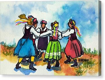 Scandinavian Dancers Canvas Print by Kathy Braud