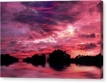 Scarlet Skies Canvas Print by Jessica Jenney