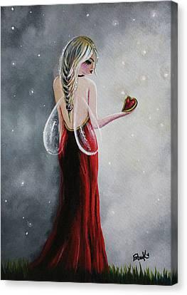 Scarlett - Original Fairy Art Canvas Print by Shawna Erback