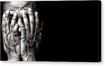Scars Canvas Print by Venura Herath