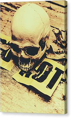 Scary Human Skull Canvas Print by Jorgo Photography - Wall Art Gallery