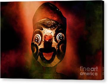 Scary Side Show Puppet Canvas Print by Jorgo Photography - Wall Art Gallery