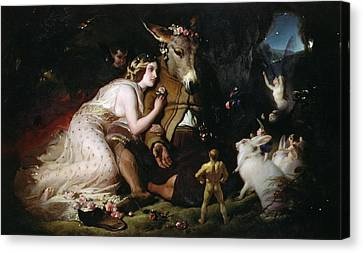 Scene From A Midsummer Night's Dream Canvas Print by Sir Edwin Landseer