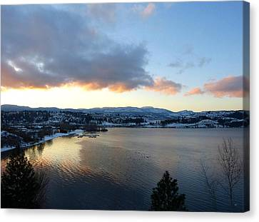Scenic Lake Country Canvas Print by Will Borden