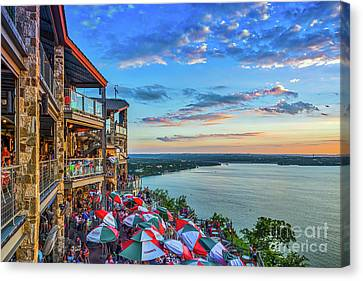 Scenic Oasis Sunset  Canvas Print by Tod and Cynthia Grubbs