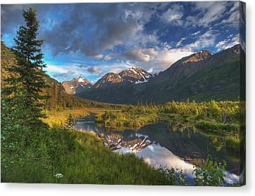 Scenic View Of Eagle River Valley Canvas Print by Michael Jones