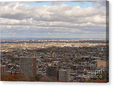 Scenic View Of Montreal Canvas Print by Reb Frost